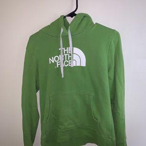 Green Northface Hoodie